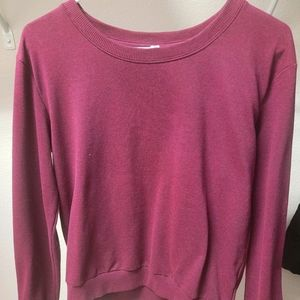 Cropped Sweatshirt Maroon H&M Divided